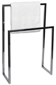 Porte Serviette à Poser Avec Pied Cubic Chromé