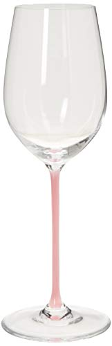 Riedel Fatto A Mano Riesling/Zinfandel Wine Glass, Pink (Glasses Wine Riedel Pink)