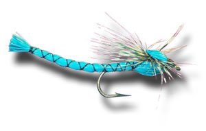 - Parachute Blue Damsel Fly Fishing Fly - Size 10 - 6 Pack