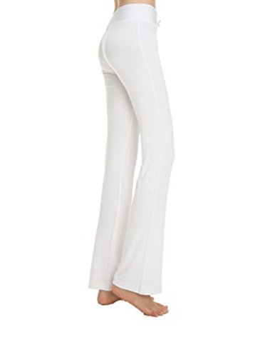 Geek Lighting Womens Active Casual Cotton Spandex Shapewear Leggings Yoga Pants White (White Yoga Pants)