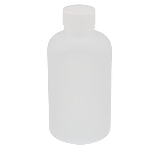 Amazon.com: eDealMax 100ml plástico redondo Reactivo de Laboratorio Botella sellado Botellas de muestra de Claro: Kitchen & Dining