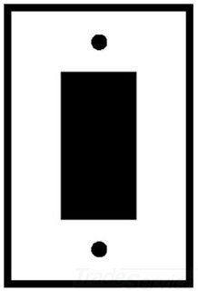 Leviton SO26 1-Gang Decora/GFCI Device Decora Wallplate, Device Mount, Stainless Steel, 25-Pack