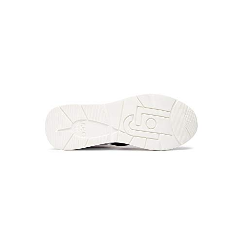 Calf sneaker Leather Para Negro White Karlie Jo Liu 14 Zapatillas Mujer wISCnT1q