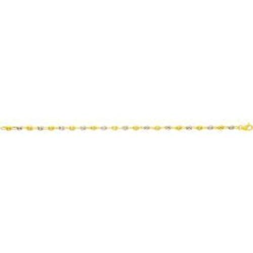 Ysora - Bracelet En Or Bicolore Avec Mailles Grain De Café - deux ors - 18 cm