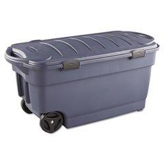 RUBBERMAID 45-Gallon Roughneck Wheeled Storage Box, Dark Indigo Metallic (RUB2463DIM)