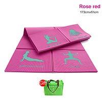 YOOMAT 8mm doppelseitige Rutschfeste PVC Faltbare Yoga Matte tragbare Mini Outdoor schlanke Gym Fitness-übung