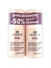 Nuxe Body Déodorant Longue Durée Lot de 2 x 50 ml