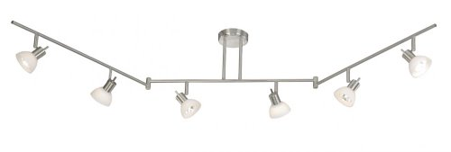 Vaxcel SP53566SN Como 6 Light Swing Track Bar, Satin Nickel Finish by Vaxcel