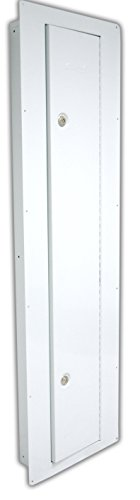 Homak WS00018002 Security Between the Studs Long Wall Safe, White