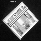 PROFLO Recessed Soap Holder and Grab Bar Concealed Screw in Polished Chrome