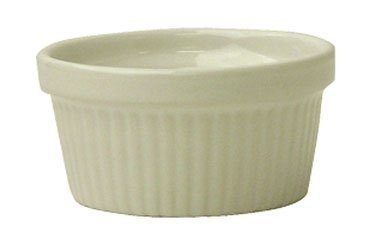 International Tableware IRAMF-3-AW Fluted Ramekin, 3 oz, American White (Pack of 36)
