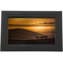 iDeaUSA iDeaPLAY Touchscreen Wi-Fi Photo Frame - 10'' Digital Frame - Black - Wireless - Alarm, Calendar, Night Mode, Background Music, Slideshow - Built-in 8 GB - Built-in Music Player - USB - Wi