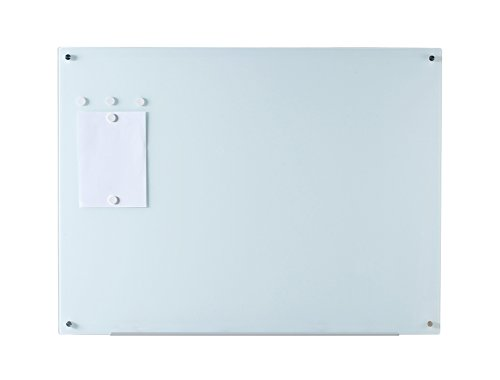 """Magnetic Glass Dry-Erase Board Set - 35 1/2"""" x 47 1/4"""" - Includes Board, 5 Magnets, and Aluminum Marker Tray"""