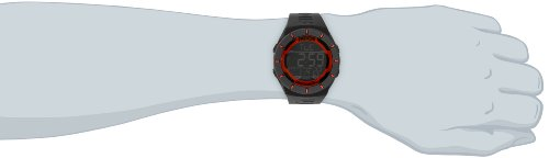 Unisex RCL103 Coliseum Black Band Red Accent Digital Watch