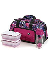 (Arctic Zone Portion Control Insulated Duffel Lunch Bag (Orchid))