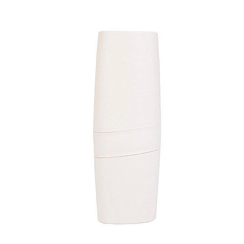perfectCOCO Toothbrush Toothpaste Case Bottle Holder Container for Travel Portable Business Trips Wash Cup Multifunction (1pc, Beige)]()
