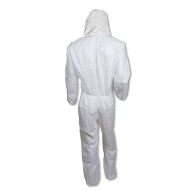 Kleenguard A30 Breathable Splash and Particle Protection Coveralls (46115), REFLEX Design, Hood, Zip Front, Elastic Wrists & Ankles (EWA), White, 2XL, 25 / Case by Kimberly-Clark Professional (Image #3)