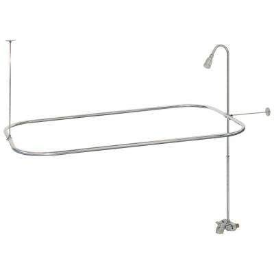 Quality Clawfoot Tub Shower Converto Set Faucet Shower Rod
