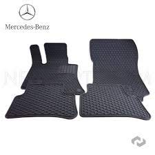 - Mercedes Benz Genuine Q6680710 - Rubber Floor Mats W212 E250 E350 E400 E550 Sedan & Wagon Black