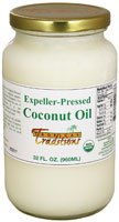 Tropical Traditions Expeller-Pressed Organic Coconut Oil -- 32 fl oz by Tropical Traditions