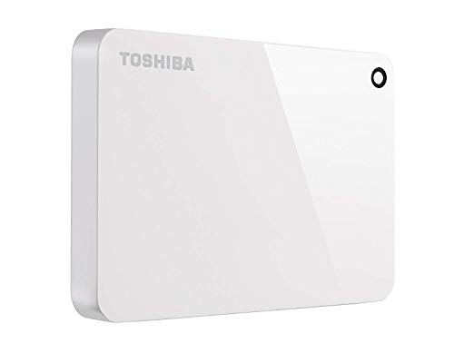 Toshiba Canvio Advance 2TB Portable External Hard Drive USB 3.0, White (HDTC920XW3AA) (Best Wifi External Hard Drive For Mac)