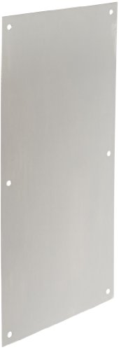 Rockwood 70F.32D Stainless Steel Standard Push Plate, Four Beveled Edges, 16