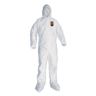 Kleenguard A35 Disposable Coveralls (38941), Liquid and Particle Protection, Hooded, White, 2X-Large (2XL), 25 Garments / Case