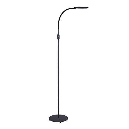 AUKEY LED Floor Lamp, Dimmable Standing Lamp, Eye Care Light with Gooseneck, Reading Lamp for Living Room Bedroom Dorm Office by AUKEY