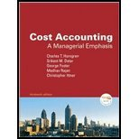 Cost Accounting: A Managerial Emphasis and MyAccountingLab CourseCompass Student Access Code Card Package (13th Edition)