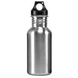 Eco-Friendly Wide Mouth 17 oz, 500 mL Stainless Steel Water Bottle - BPA Free, Brushed Metal Silver