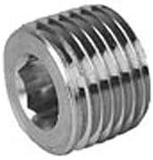 1//2 Pkg Qty 100, Hex Socket Head Plug 150# Black Steel Sold in packages of 100