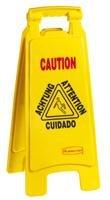 Rubbermaid-Wet Floor Sign, Multilingual, Foldable, 11