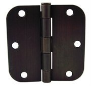 Next Day MRO 805711 Oil Rubbed Bronze Interior Door Hinges 5/8-Inch Radius, 3.5 L x 3.5 H Inches, 30 - Hinges 5/8