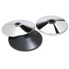 Adjusta-Tape Crowd Control Stanchion Bases, Chrome, 14