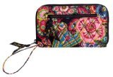 Vera Bradley Zip Around Wallet in Symphony in Hue