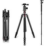 "Neewer Carbon Fiber 66""/168cm Lightweight Portable Camera Tripod Monopod with 360 Degree Ball"