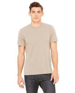 (Bella + Canvas Unisex Jersey Short-Sleeve T-Shirt M HEATHER TAN )