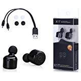 General Part Solutions X1T Twins True Wireless Bluetooth Stereo Earbuds (Black) by General Part Solutions