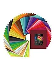 "Arteza Stiff Felt Fabric Sheets, 12x14"", 1 mm Thick, Set of 50 Assorted Colours, Perfect for DIY Crafting"