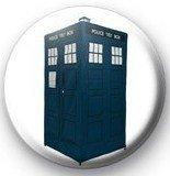 "Dr. Who BLUE TARDIS Pinback Button 1.25"" Pin / Badge ~ Time Machine Doctor"