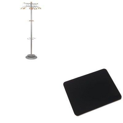 (KITABAPMWAVEIVR52448 - Value Kit - Alba Wavy Coat Rack (ABAPMWAVE) and Innovera Natural Rubber Mouse Pad)
