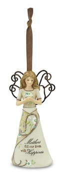 Perfectly Paisley Mother Angel Ornament by Pavilion, 4-1/2-Inch Tall, Includes Ribbon for Hanging, Mothers Fill Our Lives with ()