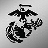Marine Corps Emblem Vinyl Decal Sticker | Cars Trucks Vans Walls Laptops Cups | Black | 5.5 X 5.2 Inch | KCD1730B ()