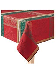 St. Nicholas Square Winter Crossing Christmas Holiday 60 by 102 Tablecloth Red (Kohls Christmas Tablecloths)