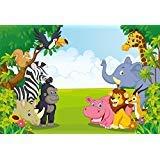 HUAYI 7x5ft Jungle safari backdrop photo background kids Photography Backdrops Photo Studio Props Children Birthday Banner Baby shower Photo booth Newborn Photography Props (xt-6521) -
