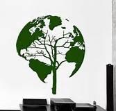[Wall Vinyl Room Sticker Decals Mural Design Funny Face Earth Globe Nursery L129] (Diy Snow Globe Costume)