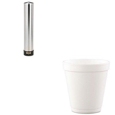 KITDRC10J12SJMC3400P - Value Kit - Dart Conex Hot/Cold Foam Drinking Cups (DRC10J12) and San Jamar Large Water Cup Dispenser w/Removable Cap (SJMC3400P) by DART