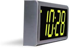 Inova Solutions 4-Digit PoE Network Clock – Stainless Steel – Green LEDs