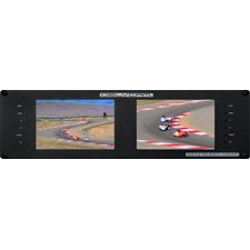 Delvcam Dual 7'' Broadcast 3GHD/SD Multiformat IPS LED Rackmount Video Monitor, 1280x800, USB/HDMI by Delvcam