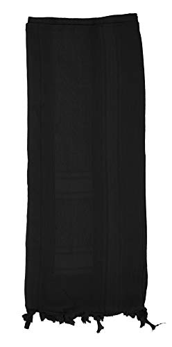 Mato & Hash Military Shemagh Tactical 100% Cotton Scarf Head Wrap - Blackout CA2100-2 ()